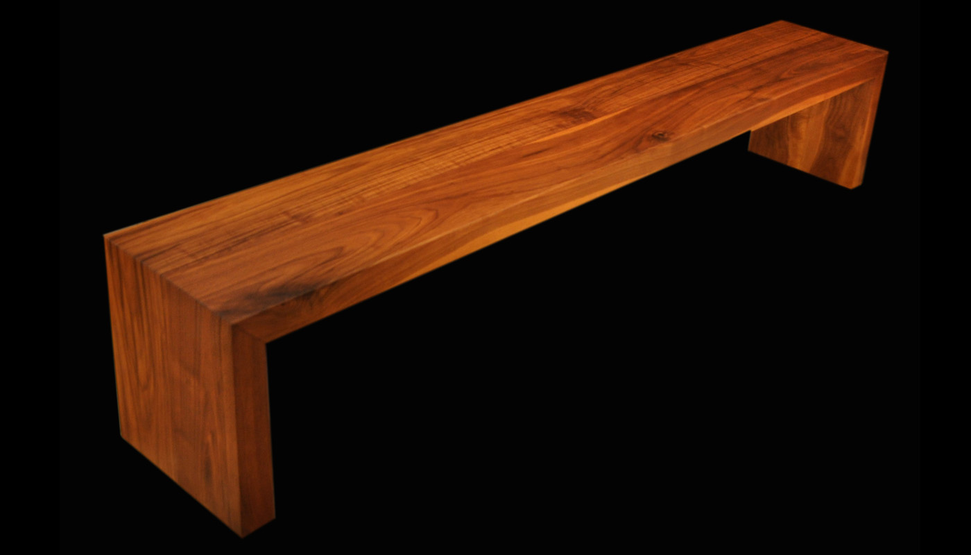 Folded Walnut Bench