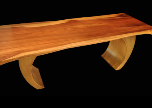 Giant Sequoia Tall Tree Slab Table with Inspire Base