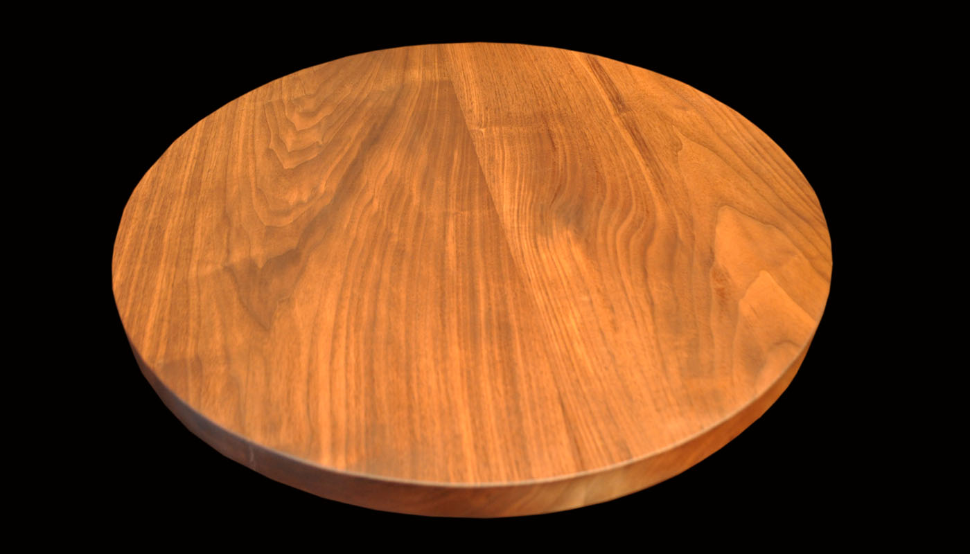 Traditional Solid Black-walnut Table Round 32dia cw