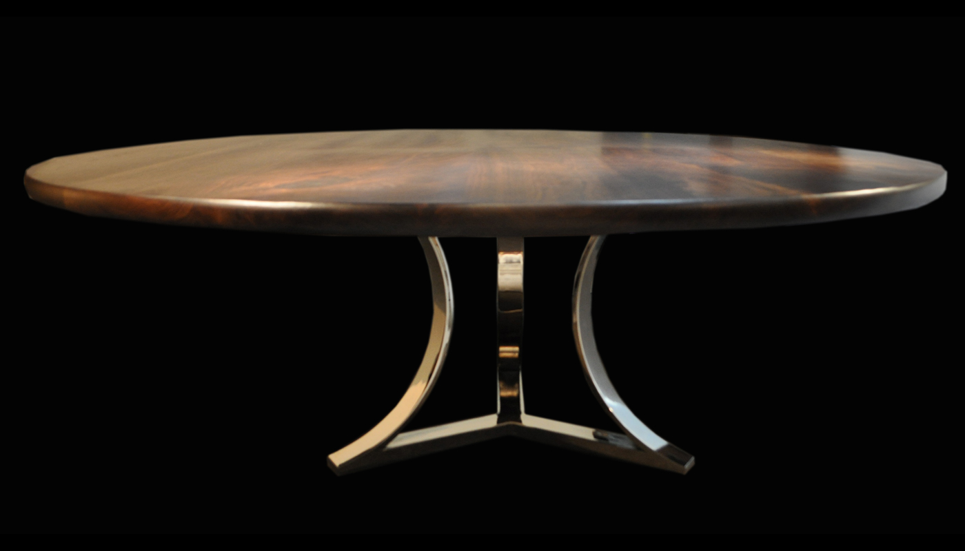 Exceptional Tri Arc Chrome Table Base Cw