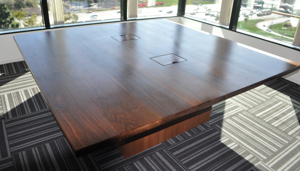 CLARK Functional Art Square Xft Black Walnut Tall Tree Conference - 72 inch conference table