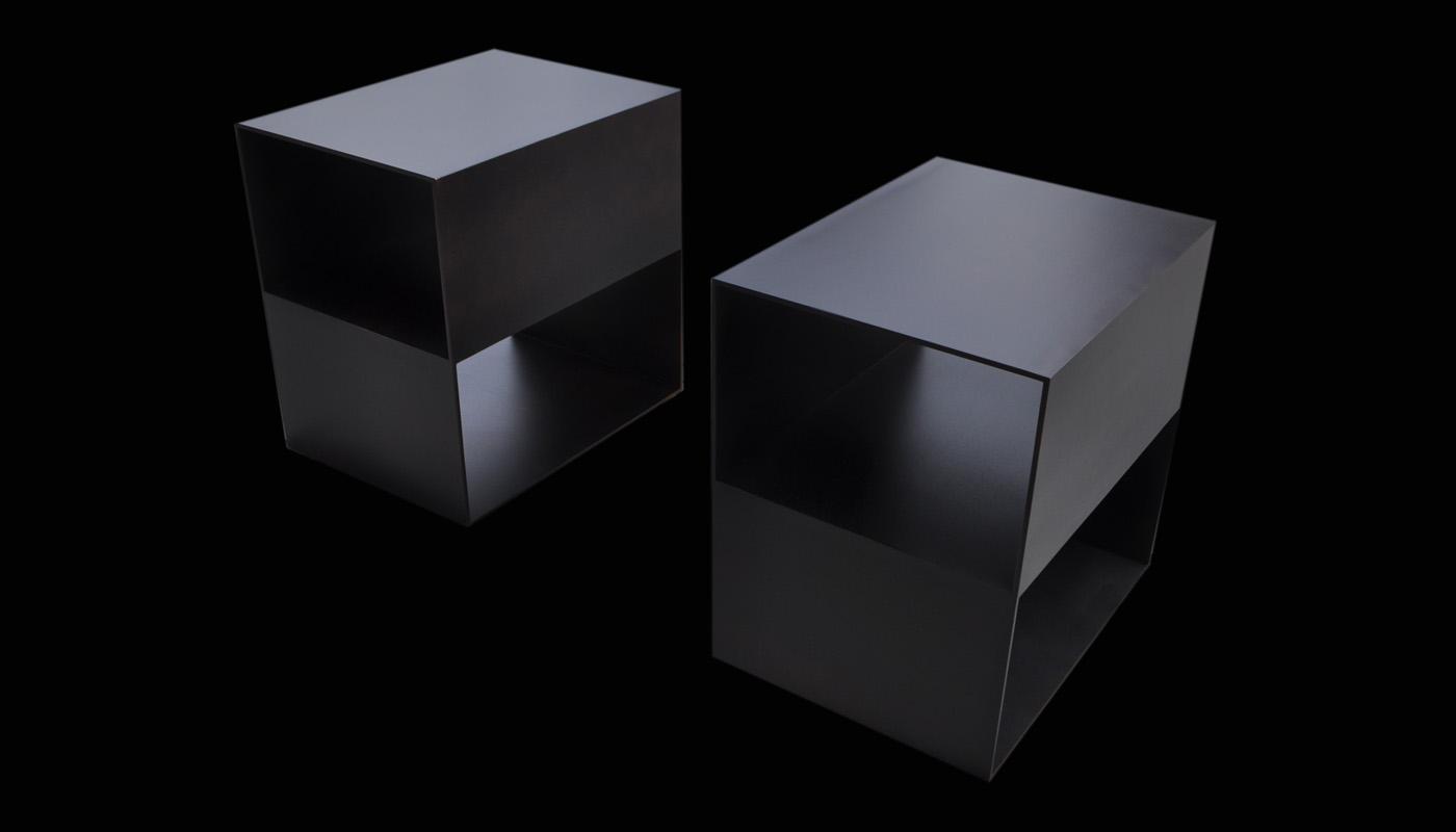 Noir Steel Nightstands