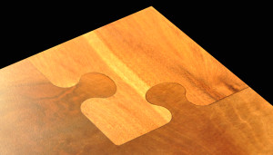 Walnut Puzzle Inlay