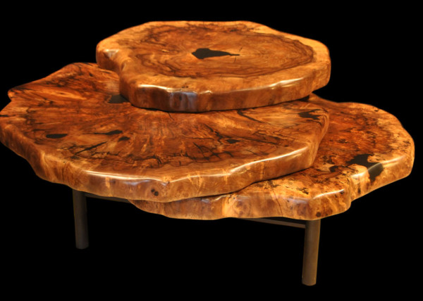 Claro-walnut Clover Coffee Table