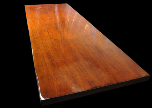 Honduras Mahogany Slab Table in High-gloss