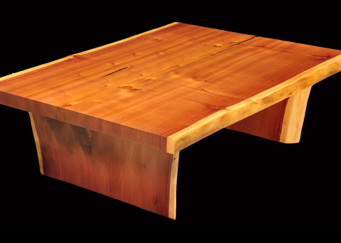 Coffee Tables Clark Functional Art - Redwood side table