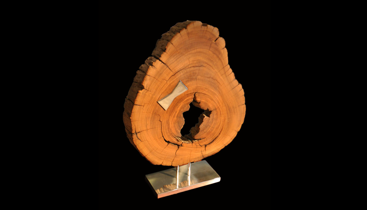 Water-worn Makha Burl Sculpture