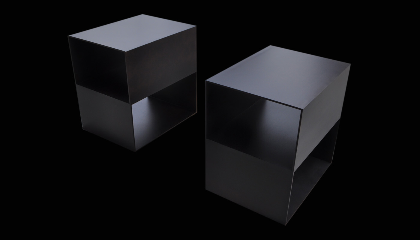 Noir Steel Nightstands